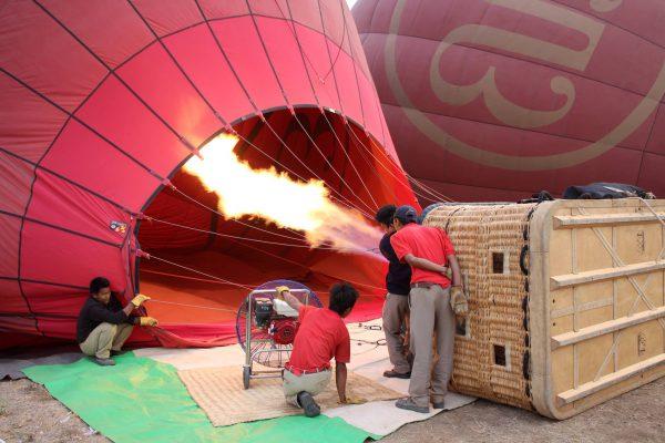 Préparation du ballon