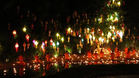 Cérémonie au Wat Phantao
