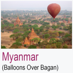 Myanmar Balloons Over Bagan